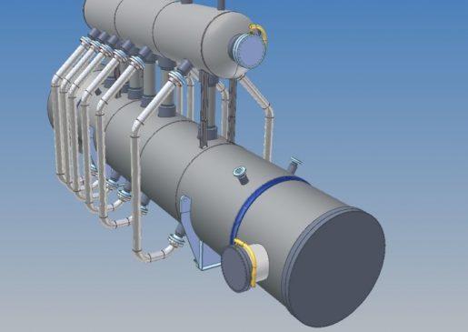 Waste Heat Boiler 3d render