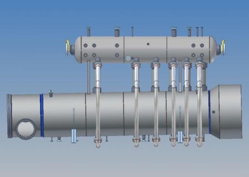 Waste Heat Boiler 3d render side