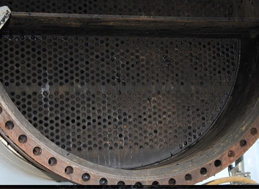 Uncoated unit fouled after short period of service